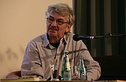 Author photo. Christoph Hein during a reading in Chemnitz, Germany in April 2012 [credit: Thomas Holbach; grabbed from Wikipedia]