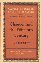 Chaucer and the fifteenth century by H. S.…