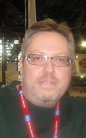 Author photo. Photograph of Ron Marz at New York Comic-con 2009