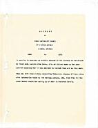 History of First Methodist Church, Bisbee,…