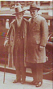 Author photo. Trader Horn (left) with Andrew Dakers, the literary agent for Ethelreda Lewis, 1927