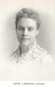 Author photo. Anna Laurens Dawes (b.1851) Buffalo Electrotype and Engraving Co., Buffalo, N.Y.