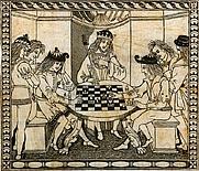 Author photo. Illustration from Libellus de moribus hominum et officiis nobilium ac popularium super ludo scachorum - Author: Jacobus de Cessolis