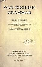 Old English Grammar by Joseph Wright