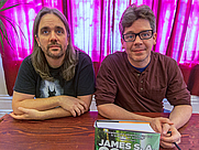 Author photo. Ty Franck (left) and Daniel Abraham (right), together forming James S.A. Corey, at Borderlands Books in San Francisco, June 21, 2014 - by <a href=&quot;https://en.wikipedia.org/wiki/User:Elf&quot; rel=&quot;nofollow&quot; target=&quot;_top&quot;>Elf</a>