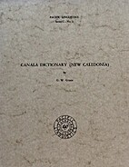Canala dictionary (New Caledonia) by George…