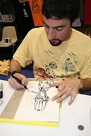 """Author photo. San Diego Comic-Con 2006, photo by <A HREF=""""http://www.flickr.com/people/pinguino/"""">pinguino k</A>"""