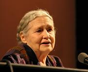 Author photo. Doris Lessing at lit.cologne, Cologne literature festival 2006, Germany [credit: Elke Wetzig]