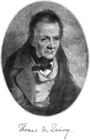 """Author photo. From <a href=""""http://en.wikipedia.org/wiki/Image:Thomas_de_Quincey_-_Project_Gutenberg_eText_16026.jpg"""">Wikipedia</a>"""
