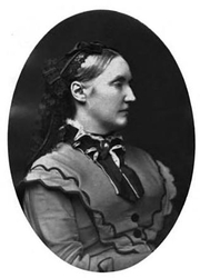 Author photo. Annie Keary. Frontispiece from Memoir of Annie Keary (1883) by Eliza Keary