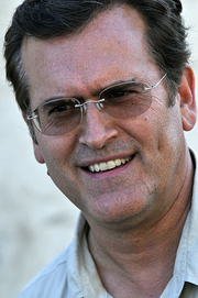 Author photo. Bruce Campbell at a USO tour event near Baghdad, Iraq. Photo by Mass Communication Specialist 2nd Class Edwin L. Wriston.
