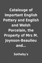 Catalouge of Important English Pottery and…