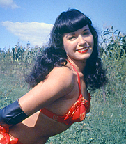 Author photo. English: Bettie Page TM is a Trademark of Bettie Page LLC <a href=&quot;http://www.BettiePage.com&quot; rel=&quot;nofollow&quot; target=&quot;_top&quot;>www.BettiePage.com</a> Licensed by CMG Worldwide, Inc. Photo released by CMG Worldwide for its free use (as shown in permission below). Español: Bettie Page TM es un Trademark de Bettie Page LLC <a href=&quot;http://www.BettiePage.com&quot; rel=&quot;nofollow&quot; target=&quot;_top&quot;>www.BettiePage.com</a> Licenciada por CMG Worldwide, Inc. Fotografía cedida por CMG Worldwide para su libre uso (como se muestra en el permiso adjunto). This work is free and may be used by anyone for any purpose. If you wish to use this content, you do not need to request permission as long as you follow any licensing requirements mentioned on this page. Wikimedia has received an e-mail confirming that the copyright holder has approved publication under the terms mentioned on this page. This correspondence has been reviewed by an OTRS member and stored in our permission archive. The correspondence is available to trusted volunteers as ticket #2009090210044711. If you have questions about the archived correspondence, please use the OTRS noticeboard. Ticket link: <a href=&quot;https://ticket.wikimedia.org/otrs/index.pl?Action=AgentTicketZoom&amp;TicketNumber=2009090210044711&quot; rel=&quot;nofollow&quot; target=&quot;_top&quot;>https://ticket.wikimedia.org/otrs/index.pl?Action=AgentTicketZoom&amp;TicketNumber=2009090210044711</a>