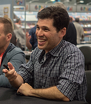 """Author photo. Max Brooks at BookExpo By Rhododendrites - Own work, CC BY-SA 4.0, <a href=""""https://commons.wikimedia.org/w/index.php?curid=79476760"""" rel=""""nofollow"""" target=""""_top"""">https://commons.wikimedia.org/w/index.php?curid=79476760</a>"""