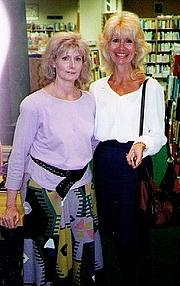 Author photo. Susan Dunlap with Justine in Nashville