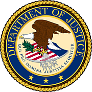 Author photo. Seal of the United States Department of Justice