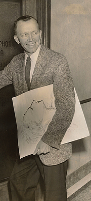 Author photo. Artist Mr. Ted Rand c. 1957