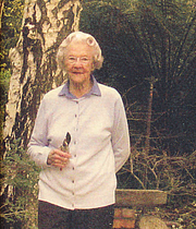 Author photo. Una van der Spuy at 95.