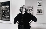 Author photo. Riva Castleman at the Museum of Modern Art in in New York in 1976 [credit: Anthony Edgeworth]