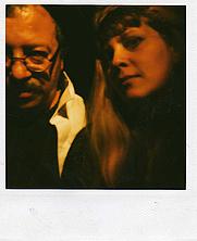 "Author photo. ""Andrei Codrescu (author) and Rochelle Hartman (librarian), January 1999."" (Rochelle Hartman)"