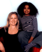 Author photo. Louisa Young and Isabel Adomakoh Young