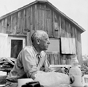 """Author photo. <A HREF=""""http://www.aldoleopold.org/"""">Courtesy of the Aldo Leopold Foundation Archives</A>"""