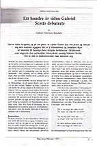 Gabriel Scott 100 år - en artikkel om ...…