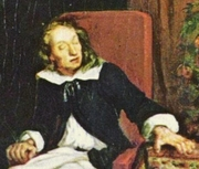 """Author photo. Detail from """"Milton Dictates Paradise Lost to his Daughters"""" by Eugène Ferdinand Victor Delacroix, c.1826."""