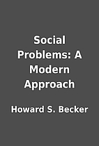 Social Problems: A Modern Approach by Howard…