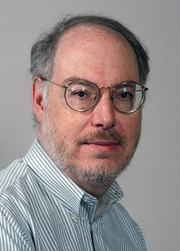 Author photo. Edward M. Lerner at Noreascon 4 (Worldcon 2004) Photo by Michael Benveniste