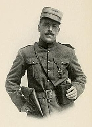 Author photo. Image from <b><i>A Soldier of the Legion</i></b> (1916) by Edward Morlae