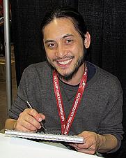 "Author photo. Adrian Alphona. Photo by ""5of7"" (flickr)."